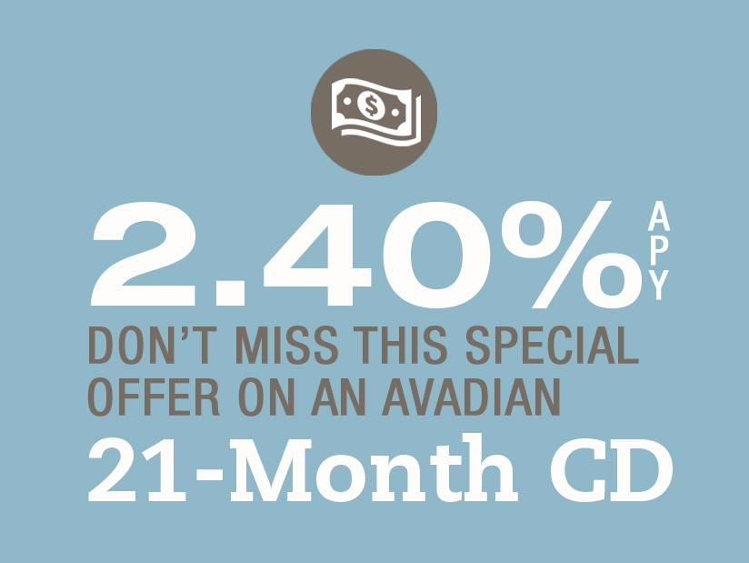 2.40% APY with Avadian's 21-Month CD