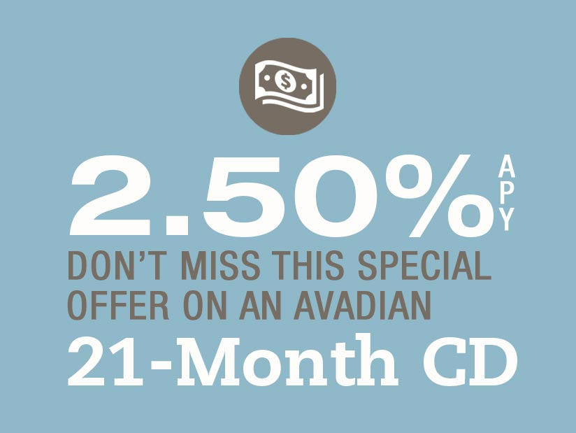 2.50% APY with Avadian's 21-Month CD